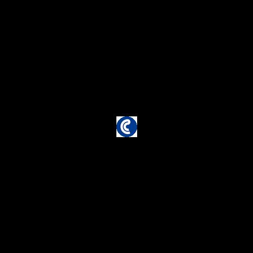 Bolígrafo Faber Castell N'ice cuerpo de metal cromado brillante y botón azul celeste metálico